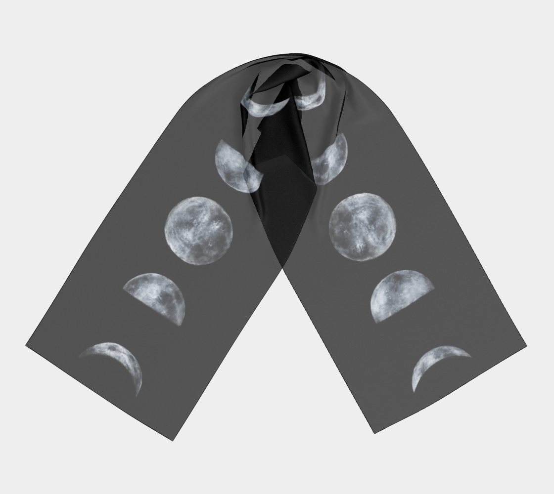 Moon Phases Long Scarf