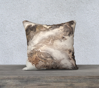 "La Dame Blanche 18"" x 18"" Pillow Cover"