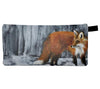 Fox print pencil case