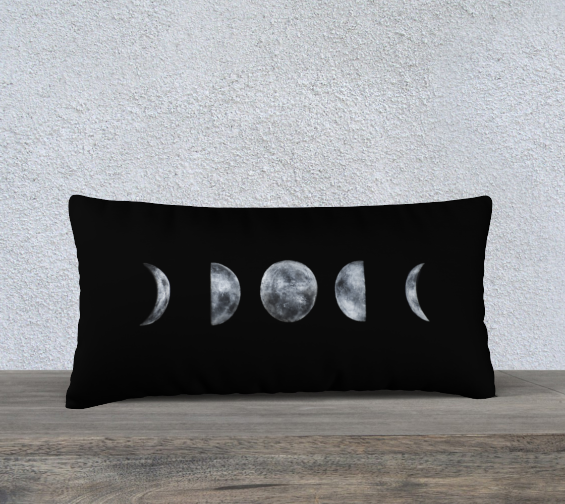 "Moon Phases 24"" x 12"" Pillow Cover"