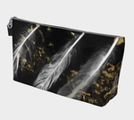 Feathers and Gold Dust Makeup Bag