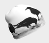 Black and white crow print lightweight beanie hat