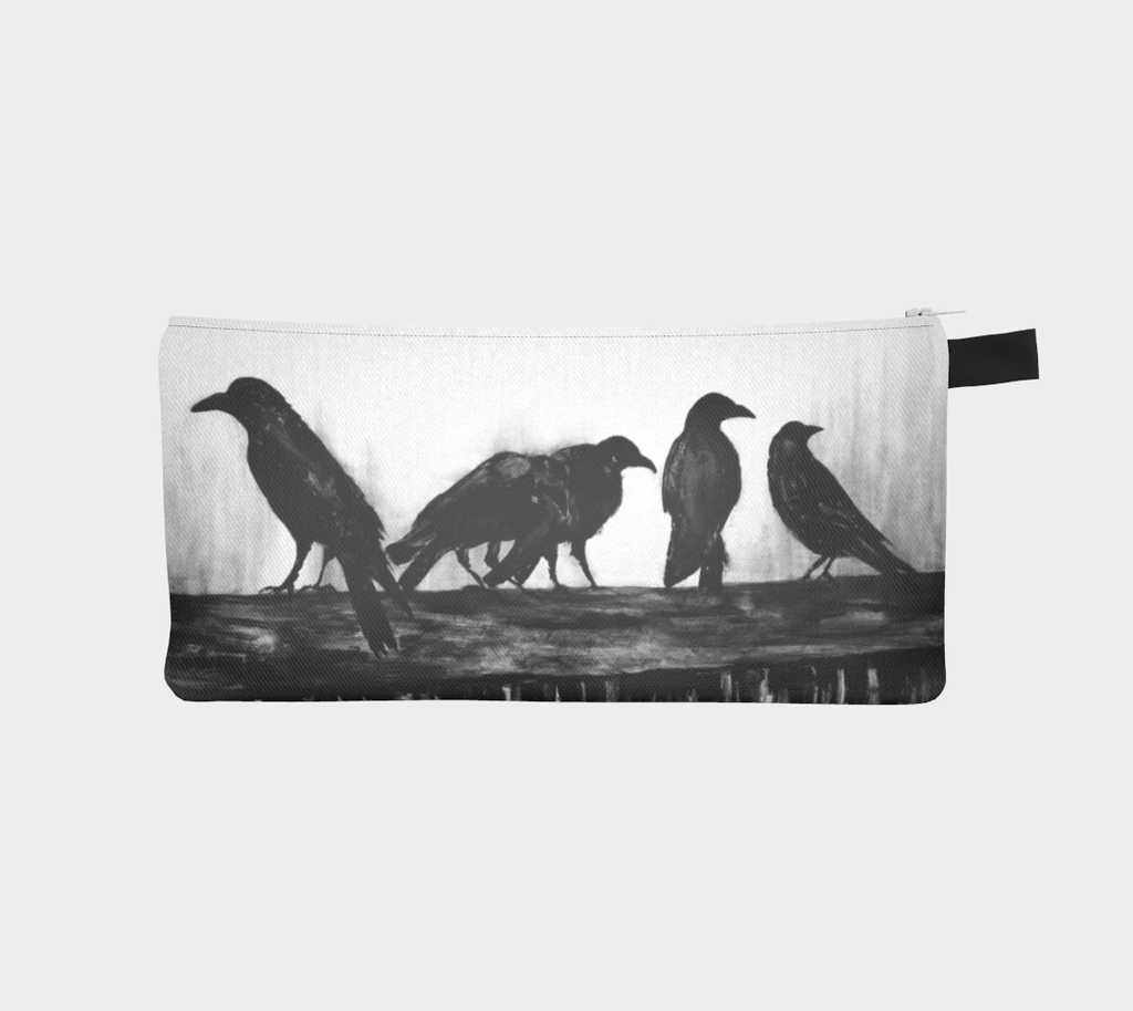 Kalmakova pencil case, crows, birds, ravens