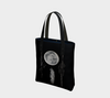 Full moon and branches wolf feather tote, laptop bag