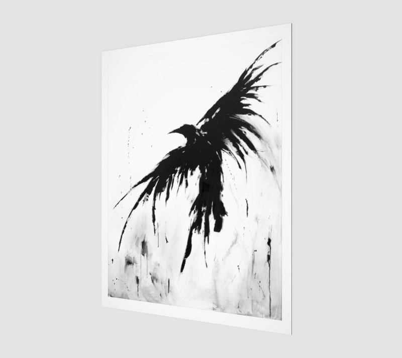 The Crows IX Art Print 3:4 | Wall Art Ideas