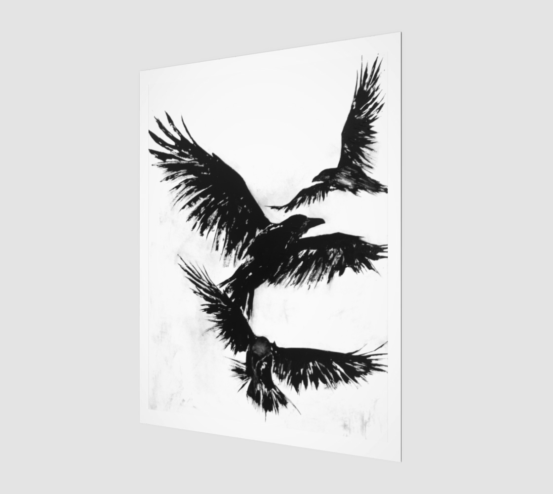 The Crows XVII Art Print 3:4 | Wall Art Ideas