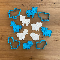 Farmyard animals cookie cutters, cookie cutter store