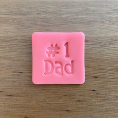 Number 1 #1 Dad Style 2 Font Emboss Stamp