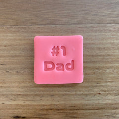 Number 1 #1 Dad Style 3 Font Emboss Stamp