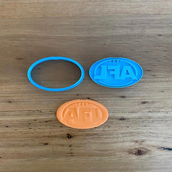 AFL Ball Cookie Cutter and Stamp Set