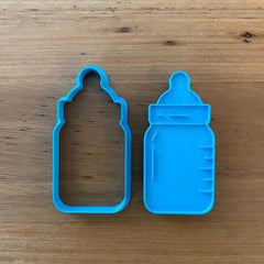 Baby Bottle Cookie Cutter & Optional Emboss Stamp - Style #1