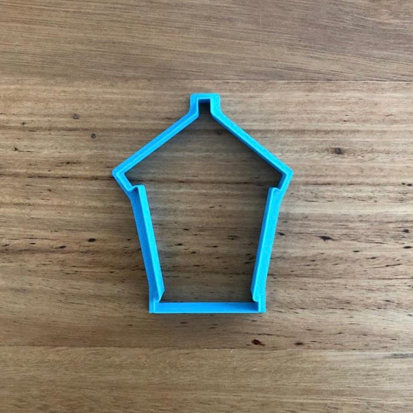 Beach Box Beach House Cookie Cutter & Optional Stamp measures approx. 90mm tall by 67mm wide.  Be sure to look at our other Summer theme cookie cutters in our