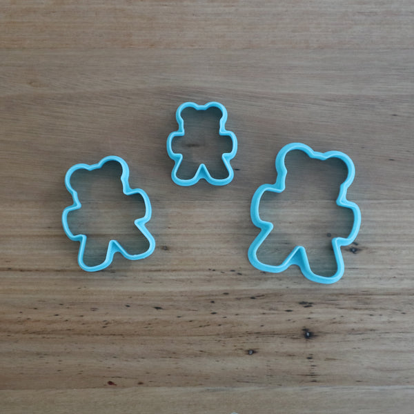 Teddy Bear Family of 3 Cookie Cutters. We have 3 cute bears to make a family measuring 80mm, 65mm and 50mm tall! Choose 1, or all 3!