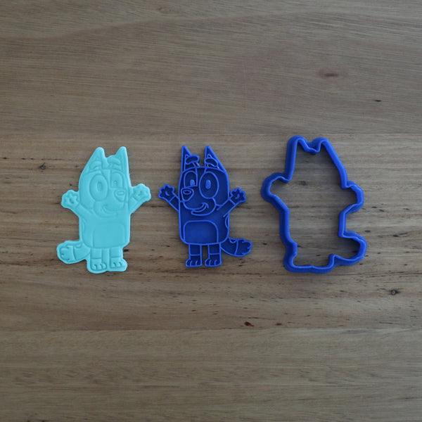 Bingo Bluey Cookie Cutter Fondant Stamp Set