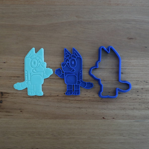 Bluey Cookie Cutter Fondant Stamp Set