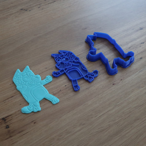 Bluey Dad Bandit Cookie Cutter & Fondant Stamp Set