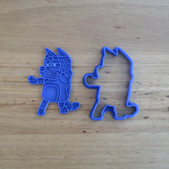 "Bluey's Dad ""Bandit"" Cookie Cutter and Fondant Stamp Set"