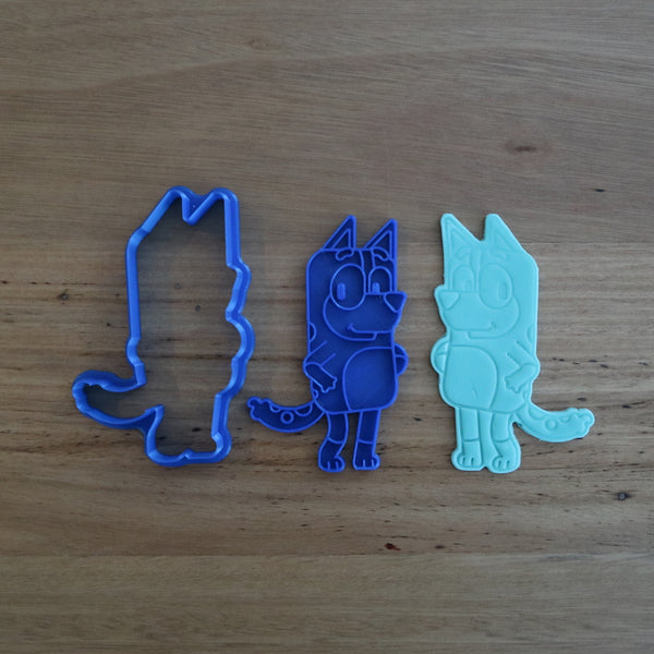 Bluey Mum Chilli Cookie Cutter & Fondant Stamp Set