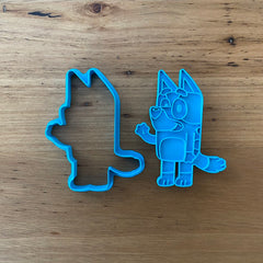 Bluey Cookie Cutter & Fondant Stamp Set