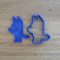 Bluey Cookie Cutter and Fondant Stamp Set