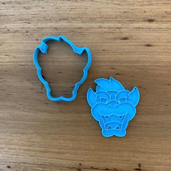 Bowser from Mario Brothers Cookie Cutter and optional Stamp