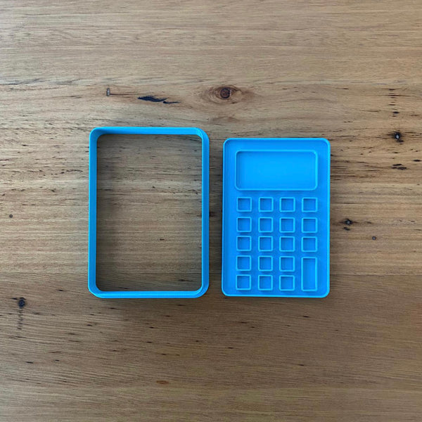 Calculator Cookie Cutter & Optional Emboss Stamp