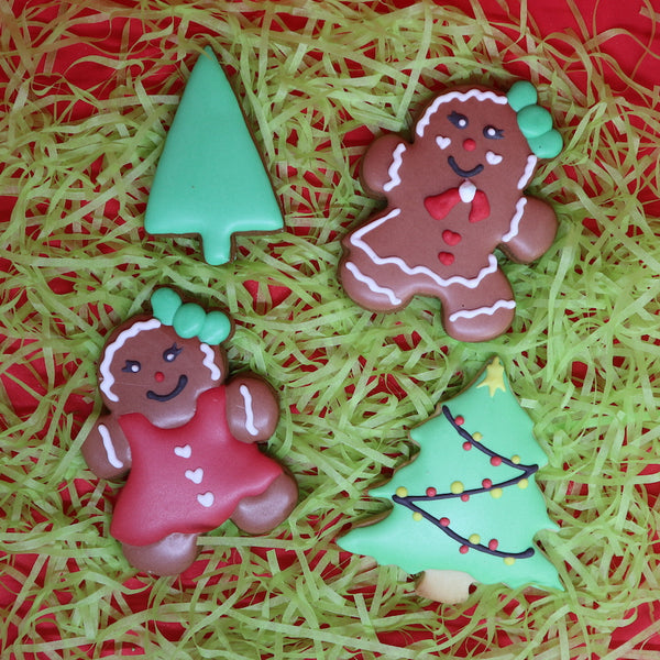 Christmas Tree Cookie cutters, plain, with snow, or with a star