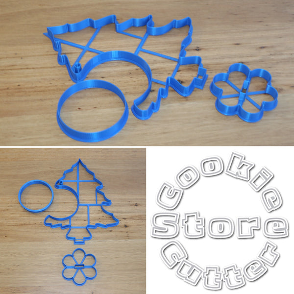 Christmas Tree 3D table decoration Cookie Cutter Set