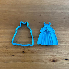Cinderella Dress Cookie Cutter & optional Stamp