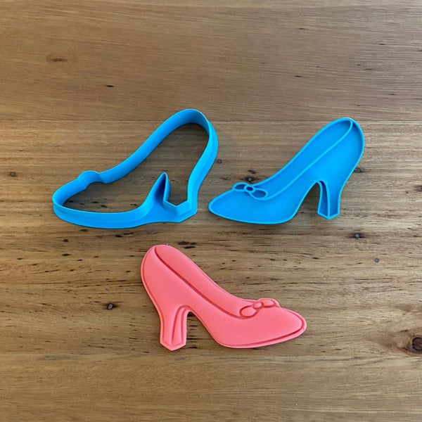 Cinderella Shoe Cookie Cutter & optional Stamp