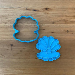 Mother Of Pearl Clam Cookie Cutter & Optional Stamp