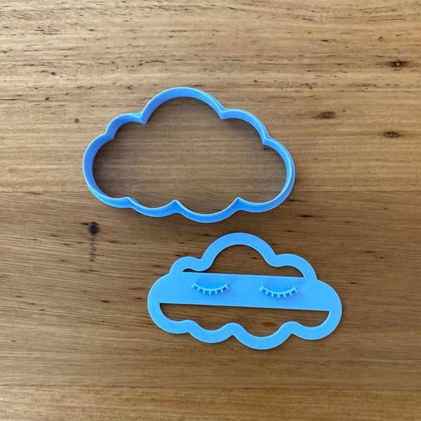 Cloud Cookie Cutter and Optional Eyelash Stamp is available in 3 sizes and perfect for cakes or cookies, or buy all 3 and you can choose individual cutters, or with stamps.