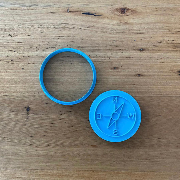 Compass Cookie Cutter and Stamp Set