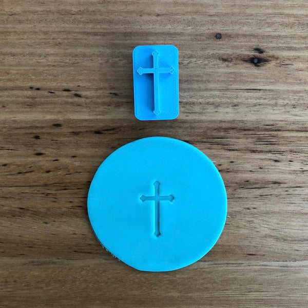 Our Mini Crucifix Cookie stamp measures 25mm x 15mm is perfect to customise all of your religious occasions without needing to buy a custom stamp; Birthday, Easter, Christmas, Baptism or Communion