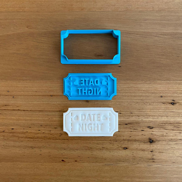 Date Night Cutter and matching Emboss Stamp