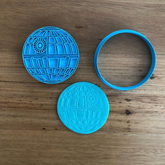 Death Star Star Wars Cookie Cutter and Stamp Set