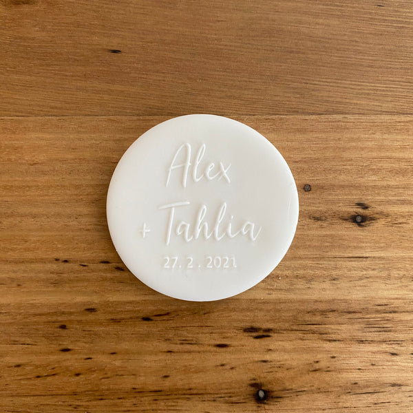 Custom Deboss Raised Effect Stamp | Names| Any Design!