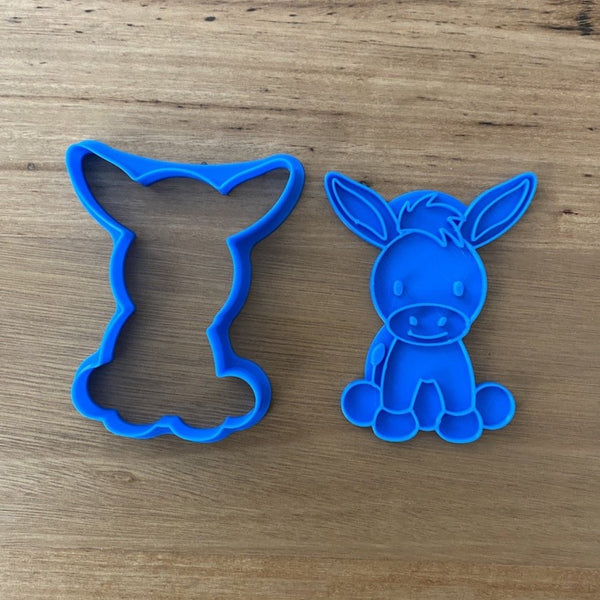 Donkey Cookie Cutter & Optional Stamp