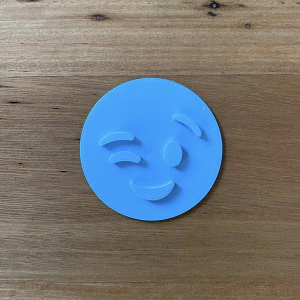 Wink Emoji Cookie Emboss Stamp