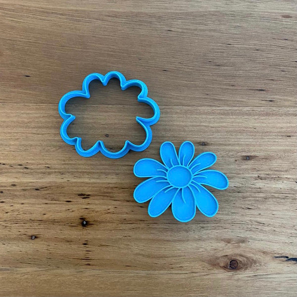 Flower Cookie Cutter and optional Fondant Stamp
