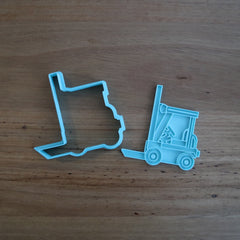 Fork Lift Truck Cookie Cutter and optional Stamp