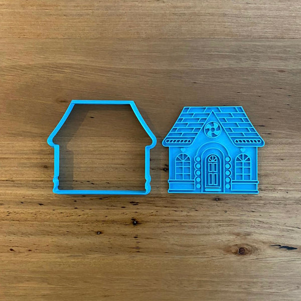 Gingerbread House Front Cookie Cutter & Stamp