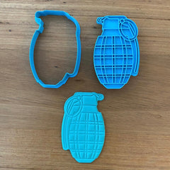 Hand Grenade Cookie Cutter and Stamp