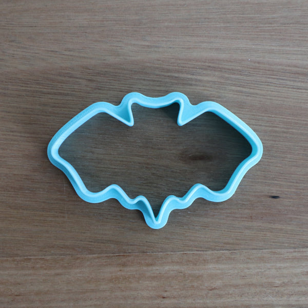 "Bat Cookie Cutter perfect for Halloween. We have 2 sizes mm(h) x mm(w)  Small: 45mm x 78mm  Large: 50mm x 96mm  Be sure to  check out our other Halloween theme cutters by searching ""Halloween"" in the search bar."