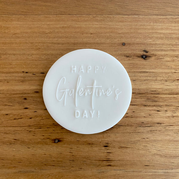 Happy Galentine's Day Deboss Raised Effect Stamp