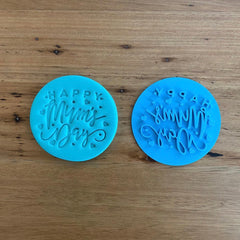"""Happy Mum's Day"" Mother's Day style #6 Emboss Stamp"