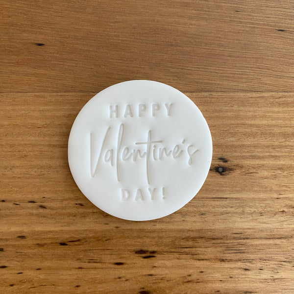 Happy Valentine's Day Cutter and matching Emboss Stamp