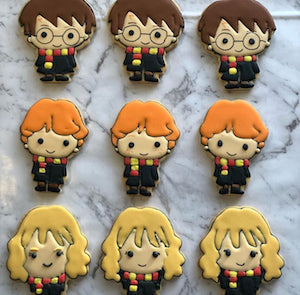 Harry Potter Ron Weasley Hermione Granger Cookie Cutters - Buy individually or as a set. Measurements below (ww) mm x (h) mm