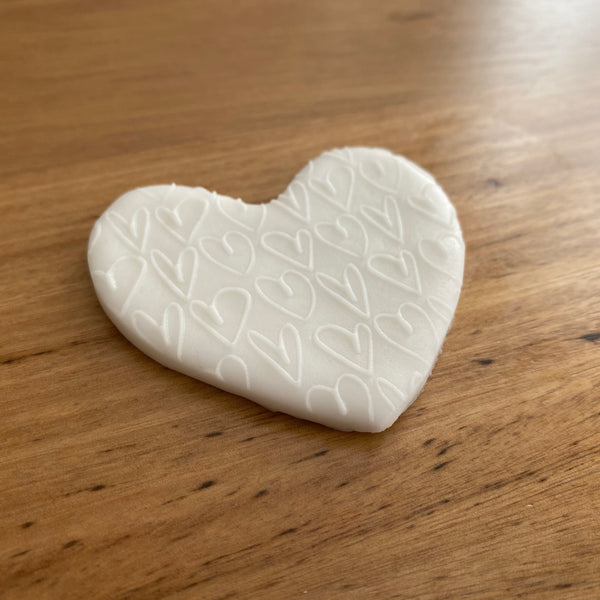Heart Pattern Deboss Raised Effect Stamp
