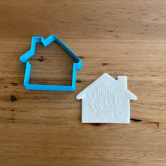 Home Sweet Home Raised, deboss, pop stamp and cookie cutter, cookie cutter store